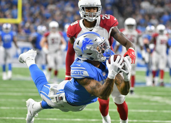 Wide receiver Kenny Golladay and the Lions open the 2019 season at the Arizona Cardinals.