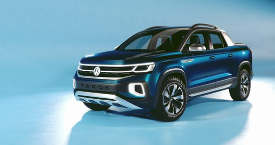 The Tarok, Volkswagen's midsize pickup concept, was unveiled Wednesday at the New York auto show.