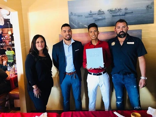 Mariner senior soccer player John Aguirre signed to play at St. Mary-of-the-Woods College on Tuesday.