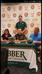 Island Coast senior Nick Larsen signed to bowl at Webber International in a ceremony last week in Lake Wales.