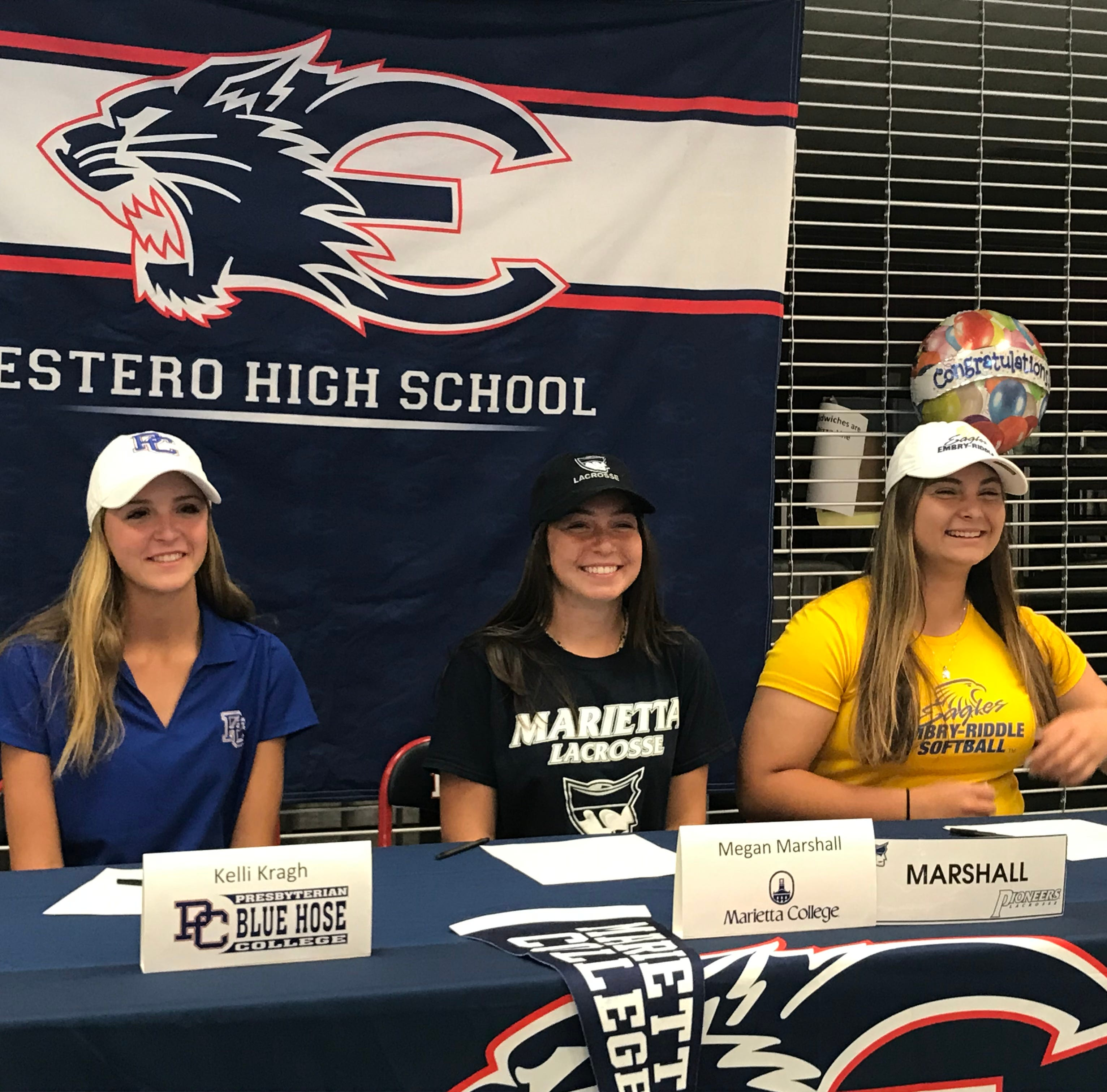 Three Estero athletes announce college choices at a signing ceremony
