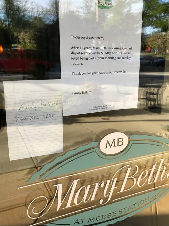 Mary Beth's Restaurant has closed after 11 years in business.