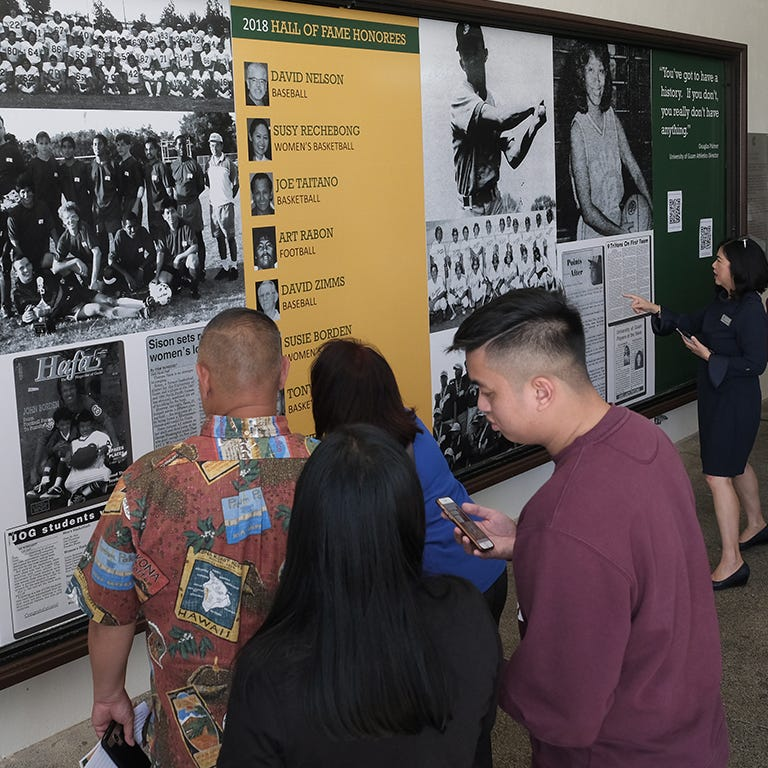 University of Guam Triton Athletics unveils Wall of Fame