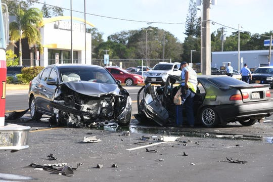 Police investigate a fatal accident in Yigo Wednesday afternoon.