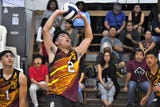 The Father Duenas Friars dominate the St. Paul Warriors in IIAAG Boys Volleyball