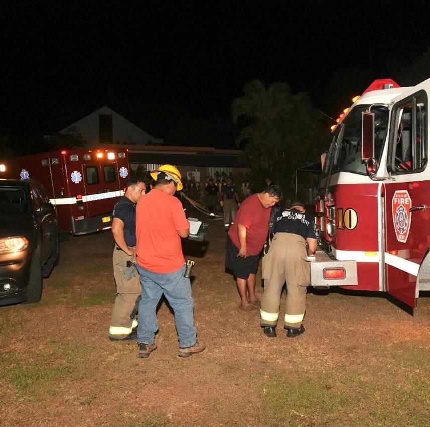 Guam Fire Department battles home fire in Dededo