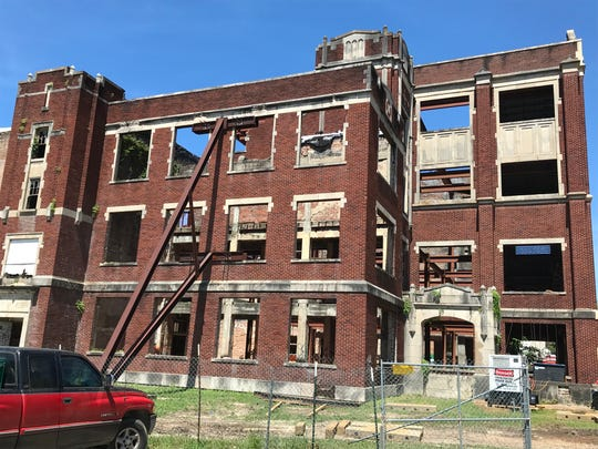 Restoration has begun on the old Hattiesburg High School, which was destroyed by arson fire in 2007. It will be turned into apartments for low income seniors.