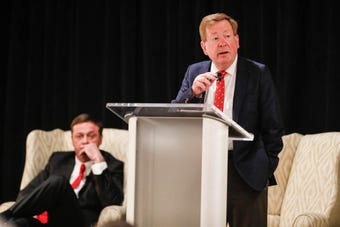 Opening statements from Carmel's public debate between mayoral candidates, incumbent Jim Brainard, and challenger Fred Glynn, Tuesday, April 16, 2019.