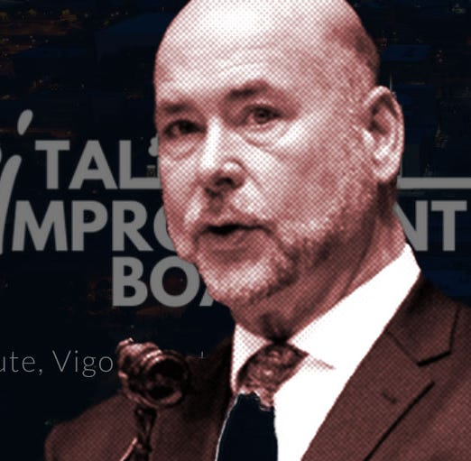 House Speaker Brian Bosma recused himself from voting on a massive gaming bill because of a contract between Vigo County Capital Improvement Board and Bosma's law firm.