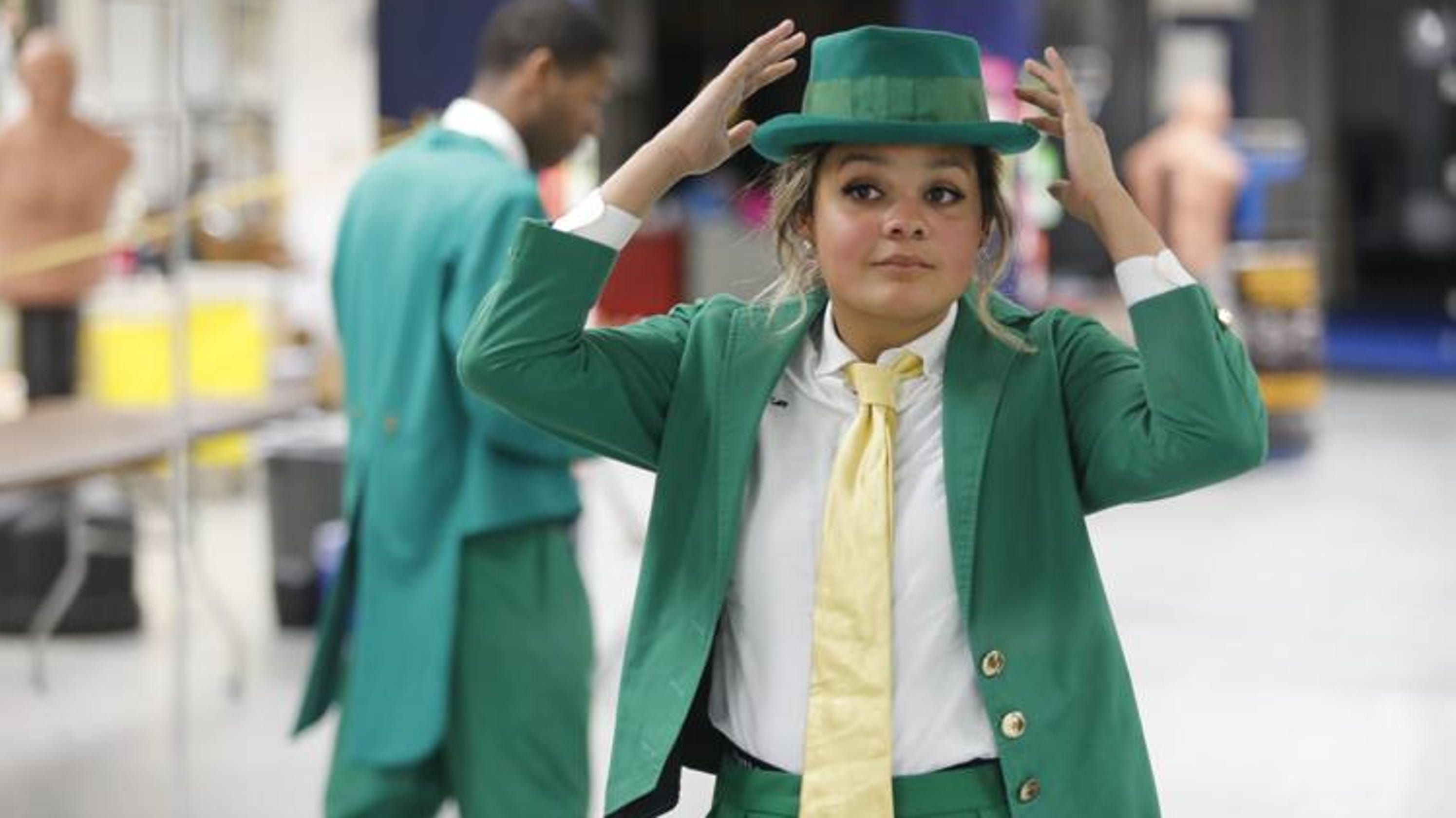 53d9d84d0d8 Notre Dame s first female leprechaun   Who says the Fighting Irish can t  fight like a girl