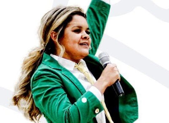 Lynnette Wukie is the first female leprechaun for the University of Notre Dame.