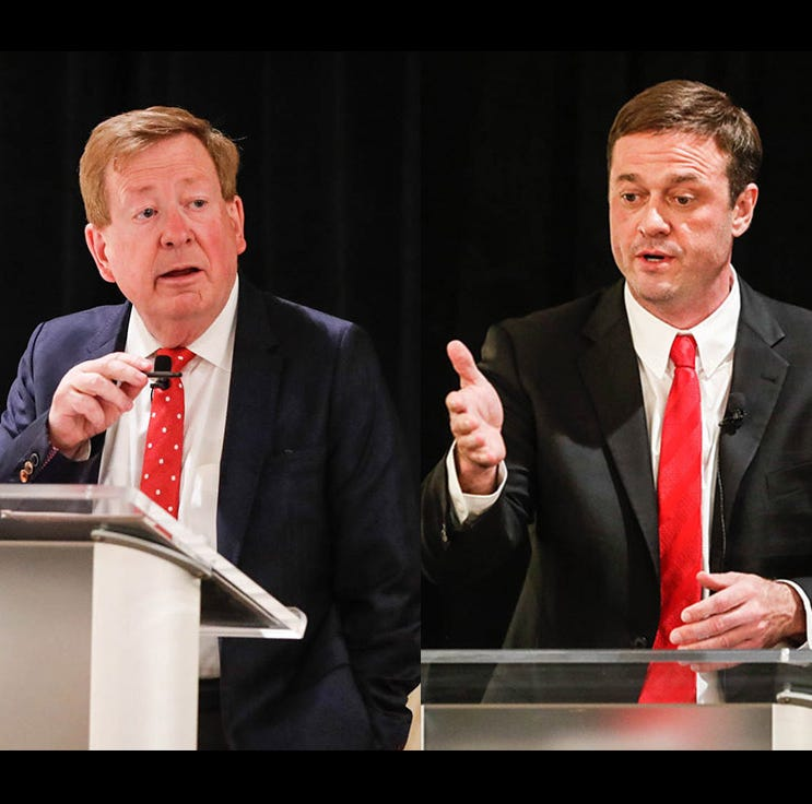 Bribery allegations, debt and roundabouts: Carmel mayoral candidates face off in debate
