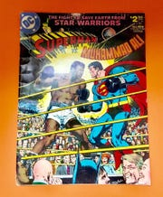 "A ""Superman vs. Muhammad Ali"" comic book is available in Collector's Corner."