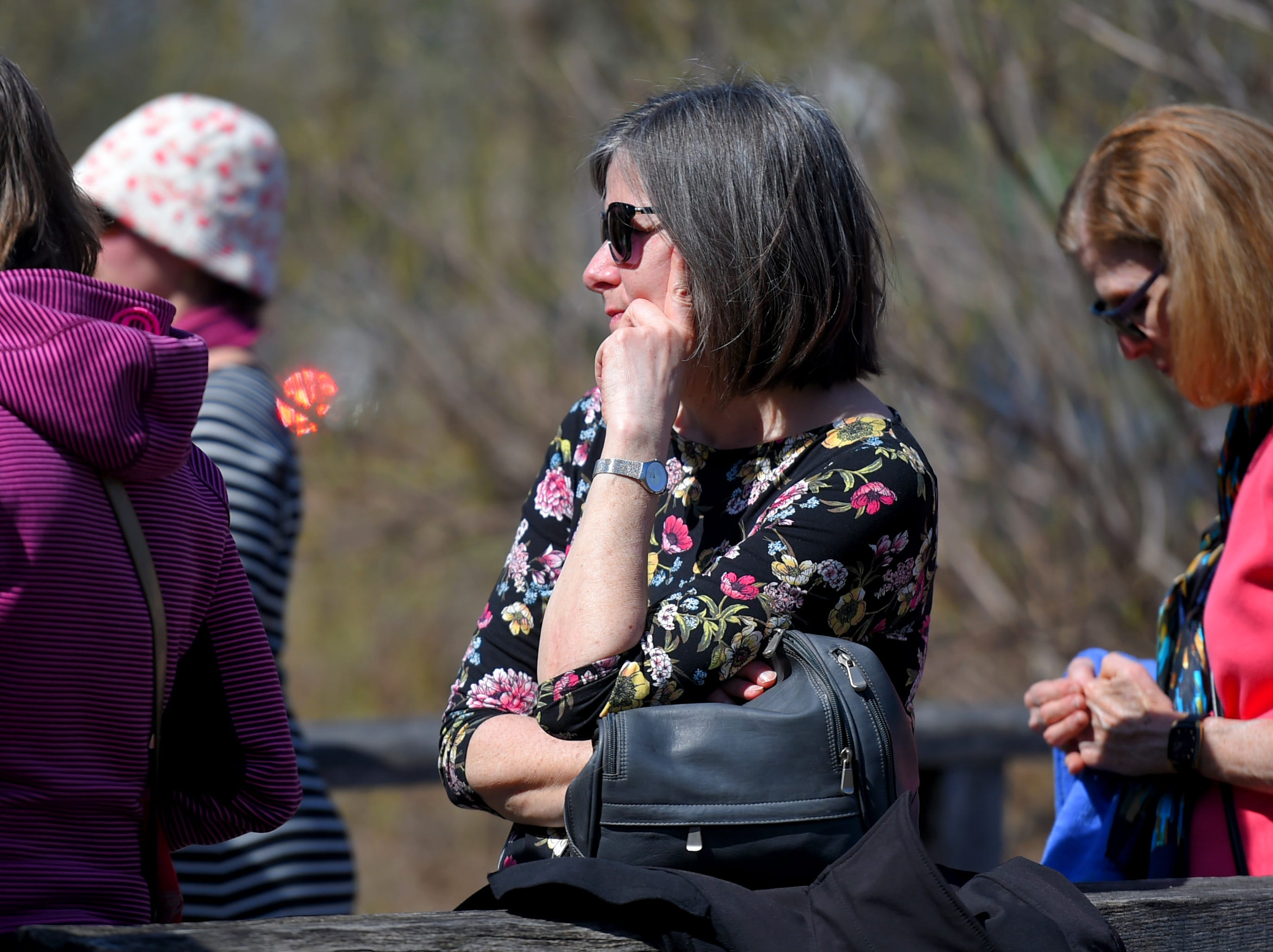 Family, friends, former colleagues and students celebrated the life of Kathleen Downes at the Ithaca Children's Garden on April 17, 2019. Downes, a beloved Ithaca teacher, died unexpectedly last week in a car accident.