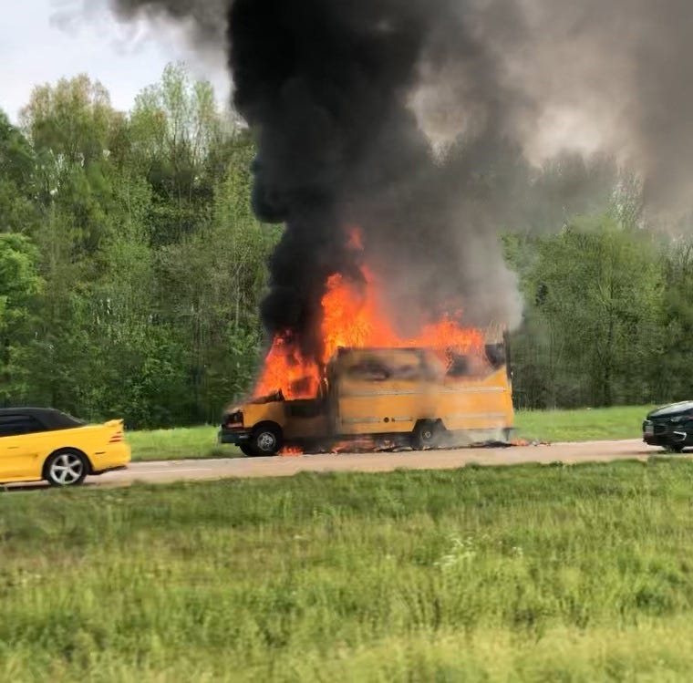 VIDEO: Truck engulfed in flames on I-40