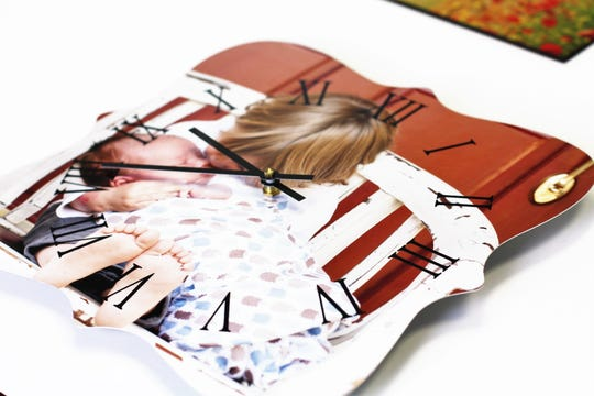 Customers can choose to have their photo printed on a metal clock face, select from four different shapes and different number styles. Picture It Custom plan to add wooden clock faces at a later date.