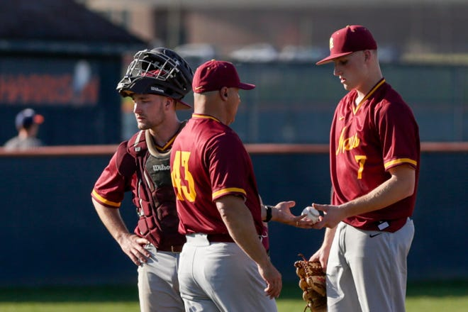 Connor Ayers and Lane Clevenger combined to no-hit Northwestern Thursday night.
