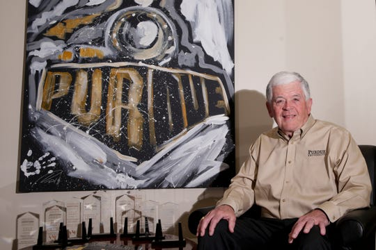 Mike Piggott poses for a portrait at the Dick and Sandy Dauch Alumni Center, Tuesday, April 16, 2019, at Purdue University in West Lafayette.