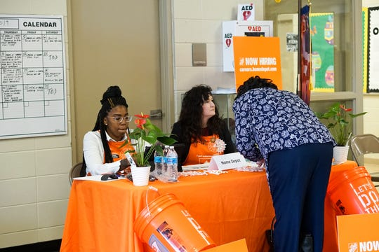 The Louisiana Workforce Commission and the Lafayette Economic Development Authority hosts a job fair Wednesday, April 17, 2019, for workers at the Walmart on the Evangeline Thruway in Lafayette, which closed March 29.