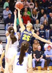 Hartland's Whitney Sollom (25) has attracted major college interest since seventh grade.