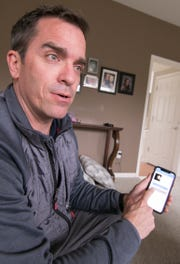 Oceola Township resident Chris Pagett, shown Wednesday, April 17, 2019, saw the need and developed an app allowing those in a neighborhood or subdivision to cooperatively inform parents of the location of their children.