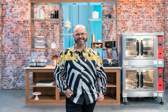 Judge Jason Smith during the Master Challenge, as seen on Best Baker in America, Season 3.