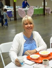 Volunteer JoAnn Winters has been organizing the St. Peter's Easter Bake Sale raffle for 10 years.