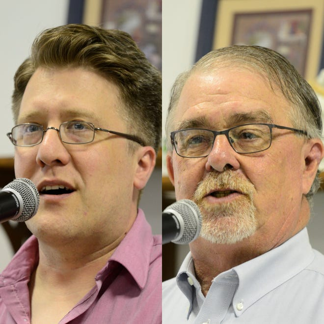 Joel Vega (left) and Phil Scott are running against each other in the May primary for an open Mansfield City Council at-large seat.