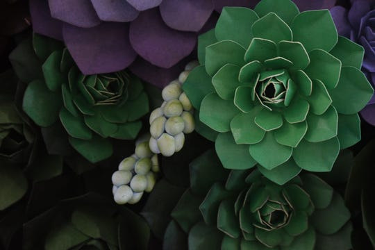 Paper Gardens, an exhibit of art by Lea Gray, is now on display at Kingwood Center Gardens.