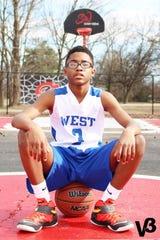 West Memphis basketball player Taylon Vail