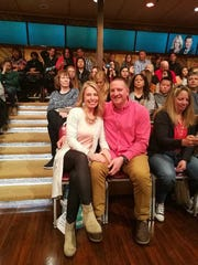 """Brad and Sabrina Hintz of Pewaukee attended """"Live with Kelly and Ryan"""" April 17."""