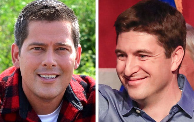Rep. Sean Duffy (left) and Rep. Bryan Steil (right)