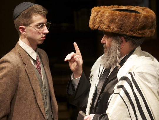 """Chris Flieller said a 2012 production of """"The Chosen"""" by Aaron Posner and Chaim Potok might be his favorite In Tandem Theatre show. Eric Schabla (left) and Bill Watson are shown in a scene."""