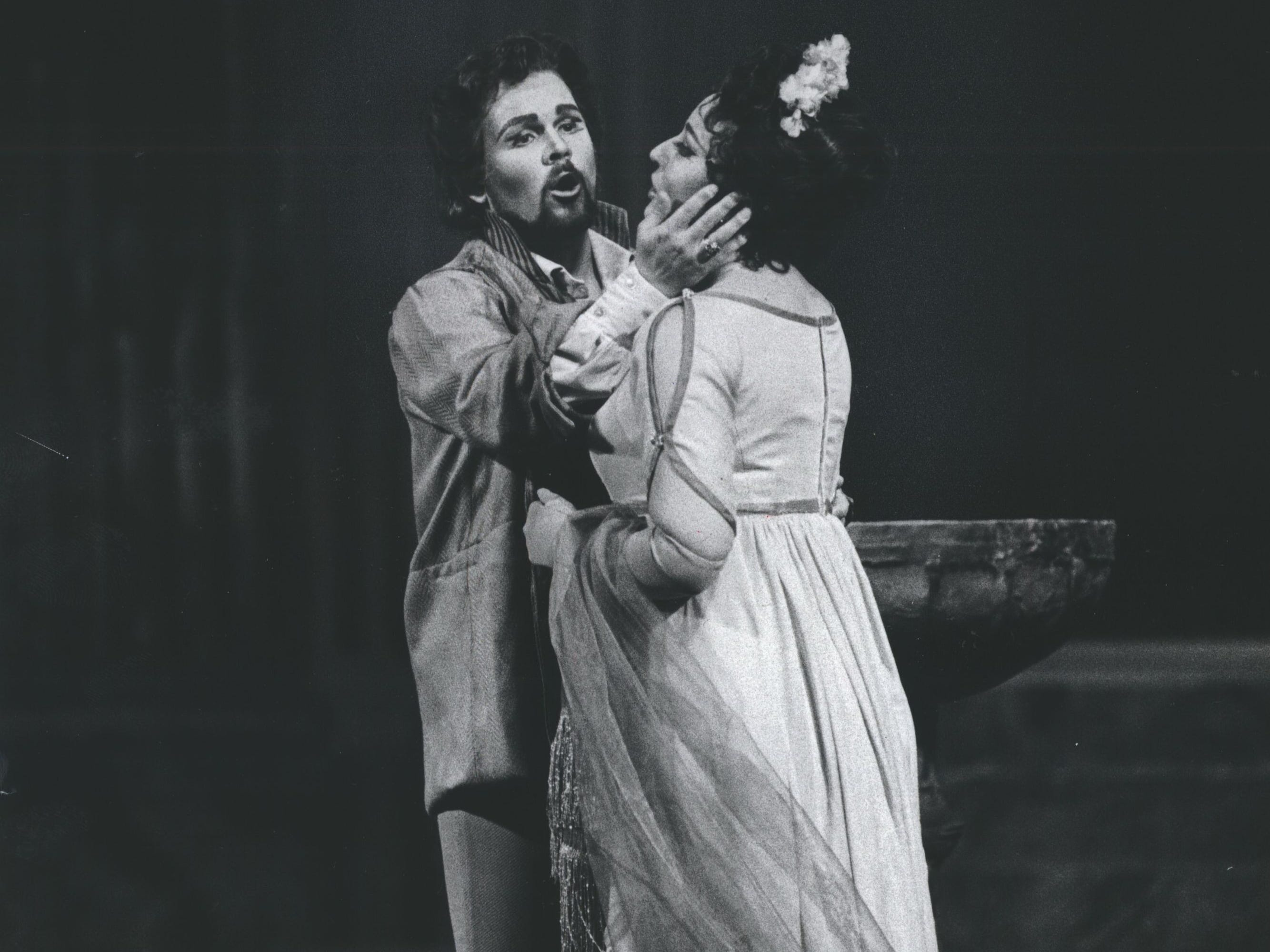 "Florentine Stars-Raymond Gibbs played Cavaradossi and Johanna Meier played Floria Tosca in ""Tosca,"" 1979."