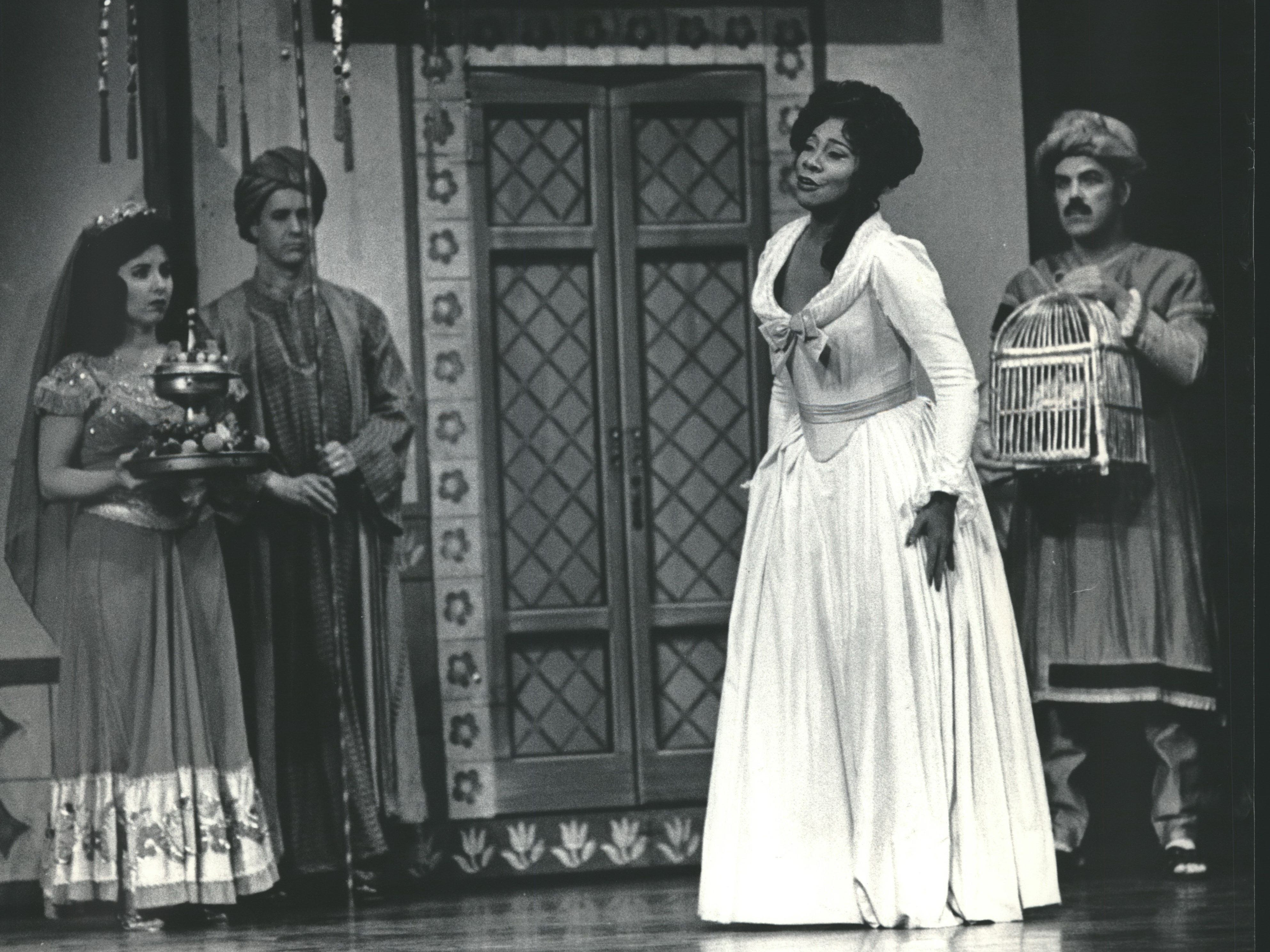 "Faye Robinson performed as Constanza in the Florentine Opera's production of Mozart's comic masterpiece ""The Abduction from the Seraglio,"" 1985."