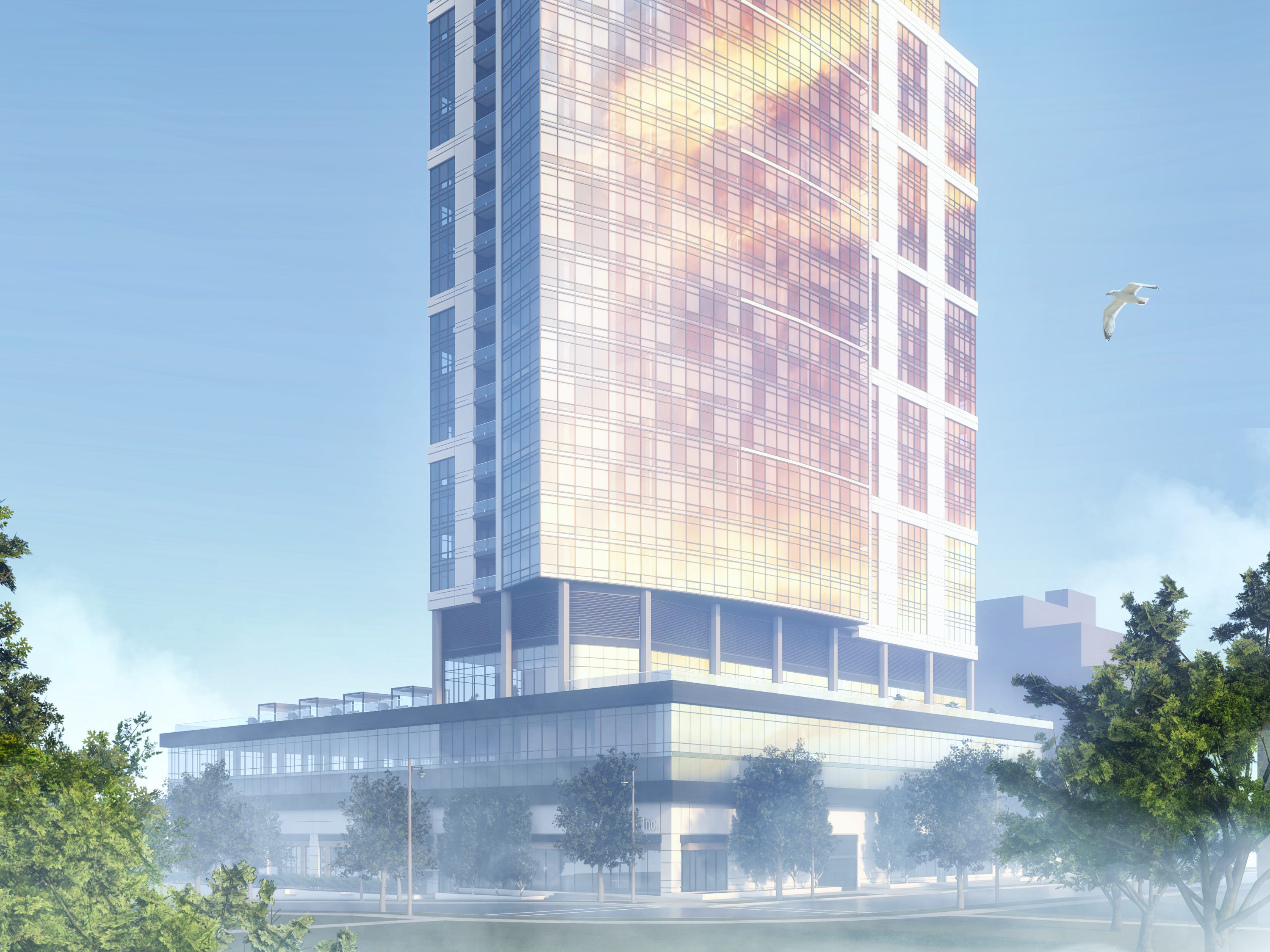 Convent Hill South, a 32-story apartment high-rise proposed for Milwaukee's downtown area, would include an unusual mix of market-rate and affordable apartments.