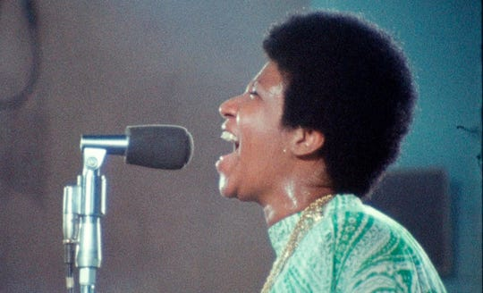 "Aretha Franklin is captured in performance in ""Amazing Grace."""