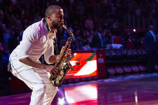 Trey Daniels, shown performing the National Anthem for the Los Angeles Clippers in 2018, will bring his Evolve tour to Montgomery on April 27 at the Troy University's Davis Theatre.
