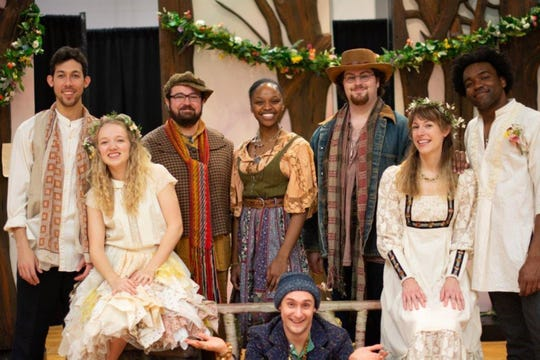 "Members of the 2019 Fellowship Company, who star in Alabama Shakespeare Festival's production of ""As You Like It."""