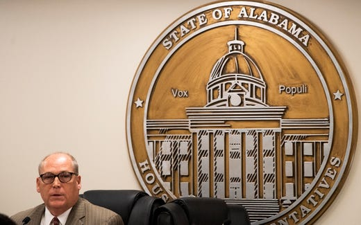 Rep. Paul Lee chairs a public hearing, before the house health committee, on HB314 the at the Alabama Statehouse in Montgomery, Ala., on Wednesday April 17, 2019.