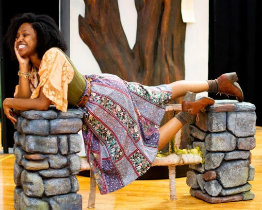 """Toree Alexandre plays Phebe, La Beau, and Forester in ASF's production of """"As You Like It."""""""