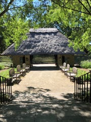 """The path into ASF's Shakespeare Garden, where """"As You Like It"""" is being performed."""