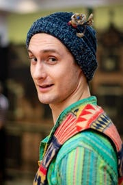 """Dane McMichael plays Touchstone and Adam in ASF's """"As You Like It."""""""
