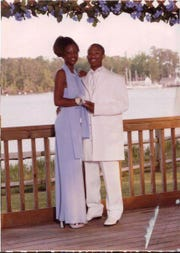 Darious Hill with his date before the Lejeune High School prom in 2001, in Camp Lejeune, N.C.