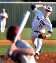 Blackman's Drew Beam (11) pitches during the game against Riverdale on Tuesday April 16, 2019.