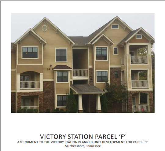 This photo shows what the planned 176 Victory Station Apartments may look like, according to Murfreesboro City Council records.