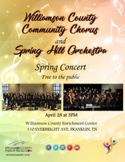 Williamson County Community Chorus and Spring Orchestra spring concert