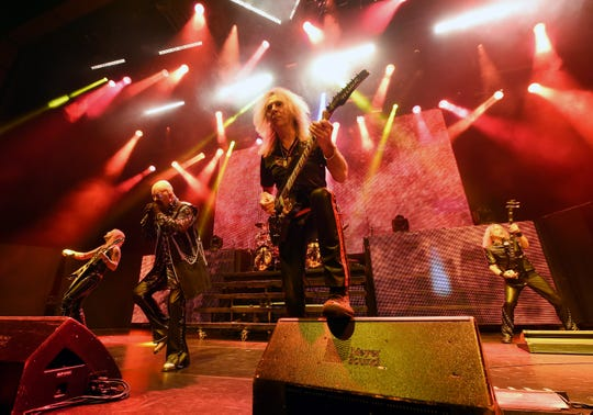 Heavy metal band Judas Priest has sold more than 50 million copies of their albums to date. The band is set to perform May 3, 2019, in Florida.