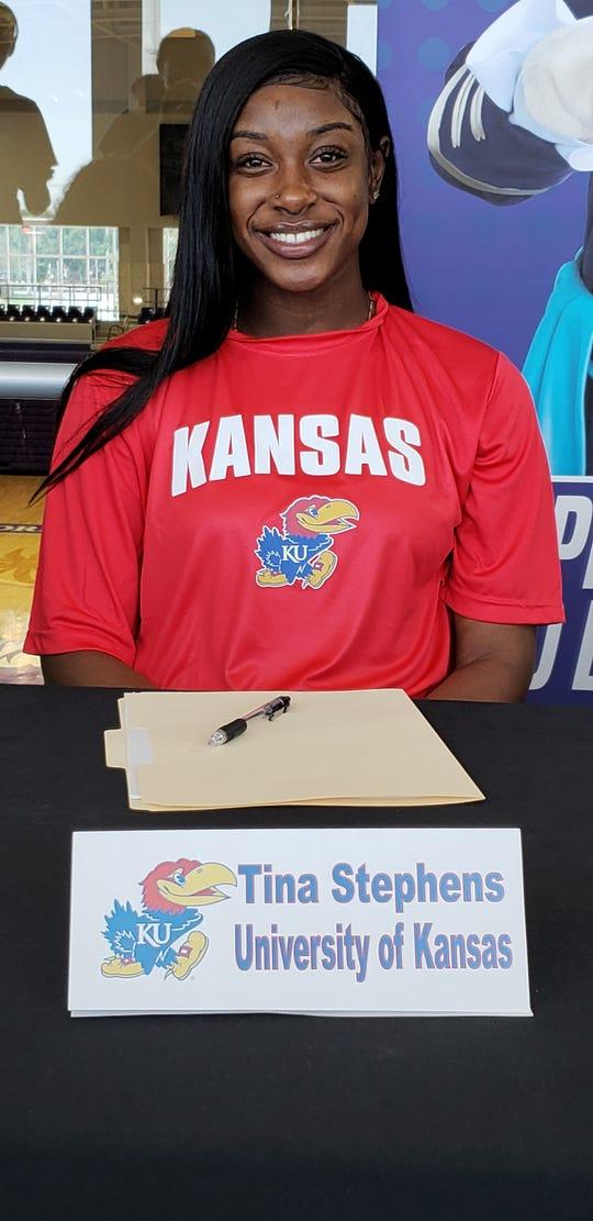 FSW basketball player Tina Stephens committed to Kansas on Wednesday, April 16, 2019.