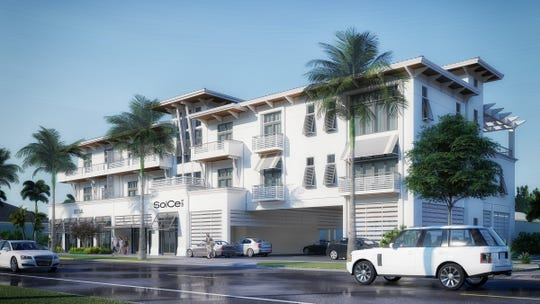 Rendering of SoCe Flats (South of Central) at 101 Eighth Street South, Naples.